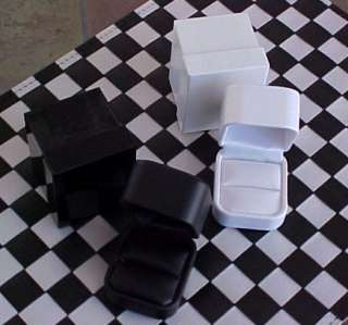 NEW Black LEATHER High End Jewelry RING Gift Box