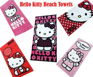 Hello Kitty Beach Towel Summer Collection 100% Cotton 5 Styles Brand