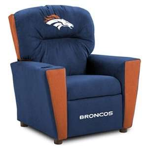 Denver Broncos NFL Team Logo Kids Recliner Sports