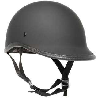 SMALLEST DOT EVER Motorcycle Half Helmet FLAT BLACK, POLO JOCKEY
