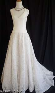 JCrew Botanical Lace Silk Chiffon Organza Wedding Dress Gown Size 6 $