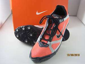 NIKE RIVAL MD IV MENS TRACK SHOES   Mango/Blue/Gray NEW