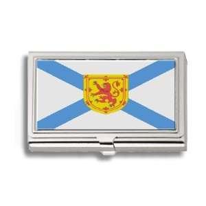 Nova Scotia Flag Business Card Holder Metal Case Office