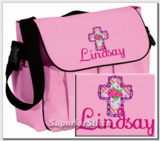 Personalized baby DIAPER BAG embroidered Christian