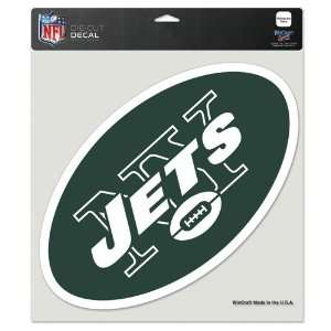 New York Jets Die Cut Decal   8in x8in Color Sports
