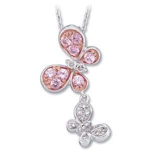 Elegant and Stylish 1/10 ct. tw. 14K White Gold and Rose Gold Plated