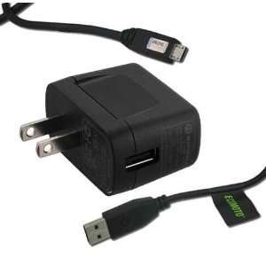 For ATT Z221 OEM Home Wall Charger + USB Data Sync Cable Link Cord