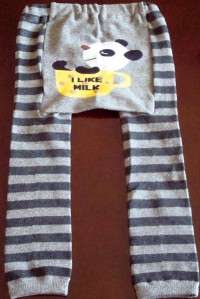 New Baby Boys Girls Leggings Tights Pants Dark Gray 3T