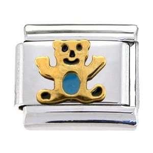 Gold Teddy Bear Italian Charm Jewelry