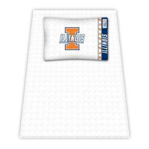 Illinois Fighting Illini Twin Sheet Set