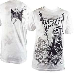 Tapout Flag You Grim Reaper Skeleton MMA UFC Cage Fighter T Shirt Mens
