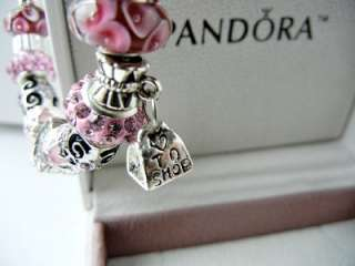 AUTHENTIC PANDORA .925 STERLING SILVER BRACELET BEST FRIEND 19 CHARM