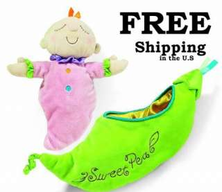 Snuggle Pod   Sweet Pea Pink Baby Doll   Manhattan Toy # 205180 Brand