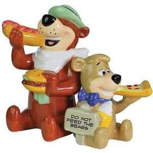 Yogi Bear and Boo Boo Eating Salt and Pepper Shaker Set
