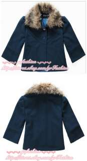 yrfashion Korean Fashion Women 2011 Ladylike Green Woolen Fur Collar