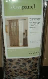 LEOPARD SHEER PANEL PAIR~SAFARI WINDOW CURTAINS~58X84~JUNGLE ANIMAL