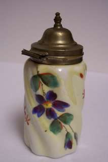 Nice Porcelain Hand Painted Mustard Pot   No Spoon