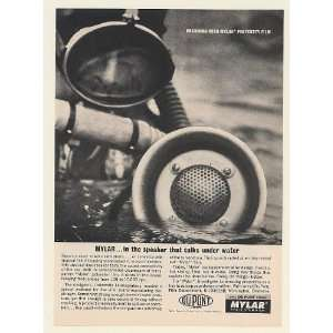 Mylar Under Water Speaker Skin Diver Print Ad (53664): Home & Kitchen