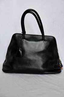 PRADA Large Black Leather Nappa Travel Shouder Bag Handbag Purse
