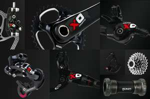 NEW 2012 SRAM RED X.0 2x10 GXP COMPLETE Group   Carbon Avid Elixir X0