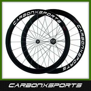 CXS Full Carbon Fiber Road Racing Bike Clincher Wheels Wheelset 700c