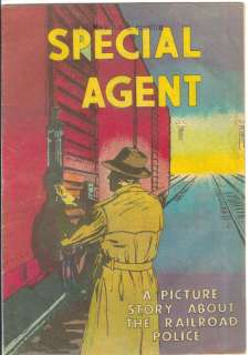 Special Agent Of Trains   Railroad Police Comic 1958 NR