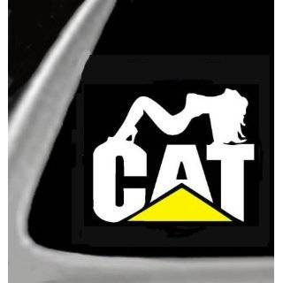 like a DEERE with a CAT on its tail FUNNY Decal Sticker Caterpillar