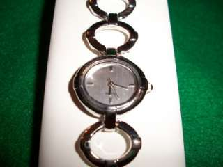 NEW Avon Ladies Silvertone Circle Link Quartz Watch