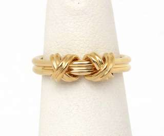 TIFFANY & CO. SIGNED 18K YELLOW GOLD SIGNATURE COLLECTION LADIES BAND