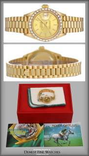 Rolex Ladies President 18k Gold & Diamond Watch 69178