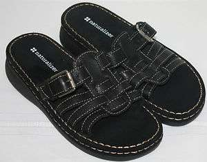 Womens Ladies Black Naturalizer Slip On Sandals Casual Shoes Size 6.5M