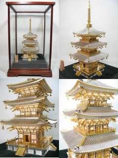 JAPANESE STERLING SILVER Buddha Buddhist PAGODA Temple