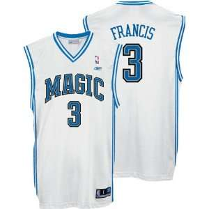 Steve Francis White Reebok NBA Replica Orlando Magic Jersey: