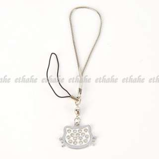 Hello Kitty Cell Mobile Phone Strap Chain Silver E1GKAG