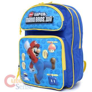 Super Mario Will Coin School Backpack Lunch Bag 2