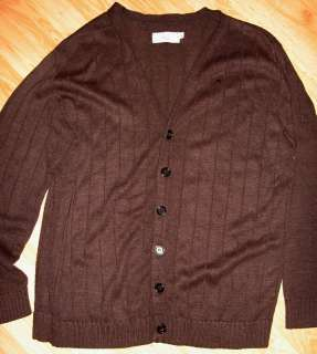Delta Airline uniform Sweater retired brown Cardigan XL