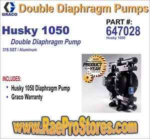 Graco Husky 1050 SS/AL Double Diaphragm Pump   647028 633955137516