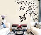 Black Butterfly  Home Decor Stickers Wall Decals Medium