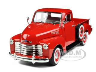 32 scale diecast car model of 1953 chevrolet 3100 pickup truck red