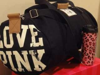 Secret LOVE PINK DUFFLE GYM TRAVEL BAG * FREE COFFEE TRAVEL MUG