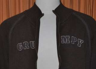 GRUMPY BROWN FULL ZIP SWEATER JACKET WOMENS LADIES XXL 2XL