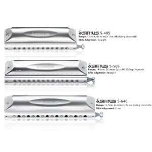 Sirius 12 hole Chromatic Straight Align Harmonica Musical Instruments