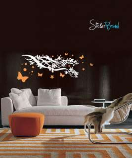 Vinyl Wall Art Decal Sticker Butterfly Stars Branch