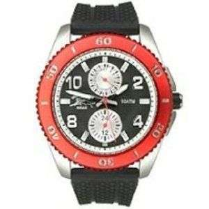 Tommy Bahama Mens Relax Red Bezel Black Watch 1095 NEW