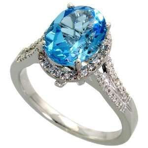 White Gold Ring, w/ 0.30 Carat Brilliant Cut Diamonds & 2.22 Carats