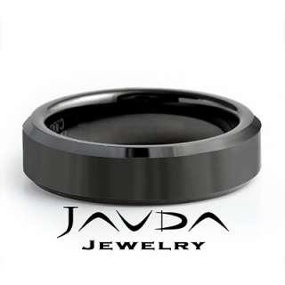 Men Tungsten Carbide Wedding Brushed Band Bevel Edge Comfort Fit 6mm