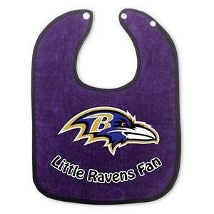 Baltimore Ravens Two Toned Snap Baby Bib Sports