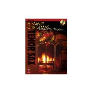 Family Christmas Around the Fireplace Tenor Sax Musical Instruments