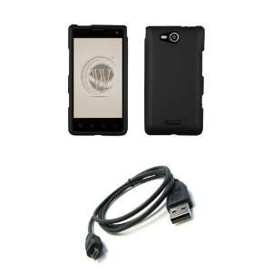 LG Lucid 4G (Verizon) Premium Combo Pack   Black Rubberized Shield