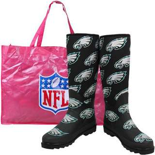 Cuce Shoes Philadelphia Eagles Womens Enthusiast Rain Boot